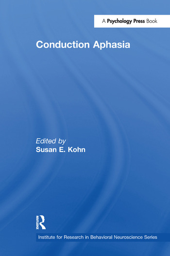 Conduction Aphasia book cover