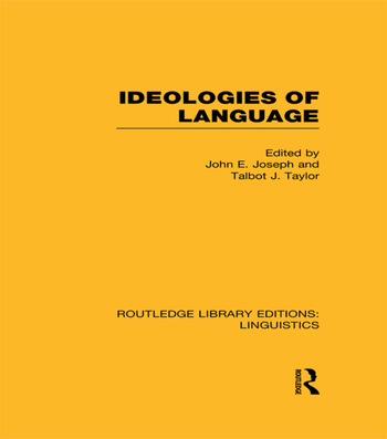 Ideologies of Language book cover