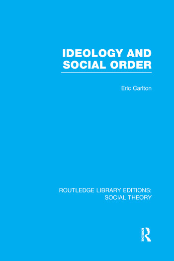 Ideology and Social Order book cover