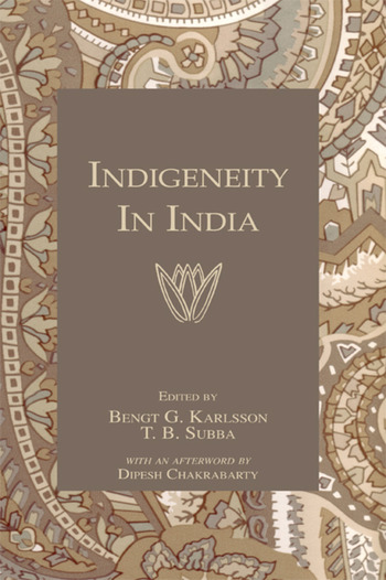 Indigeneity In India book cover