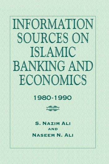 Information Sources on Islamic Banking and Economics 1980-1990 book cover