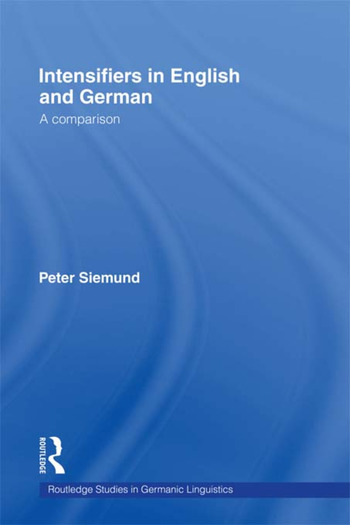 Intensifiers in English and German A Comparison book cover