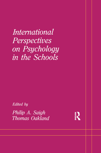 International Perspectives on Psychology in the Schools book cover
