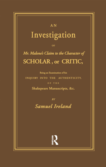 Investigation into Mr. Malone's Claim to Charter of Scholar Volume 24 book cover