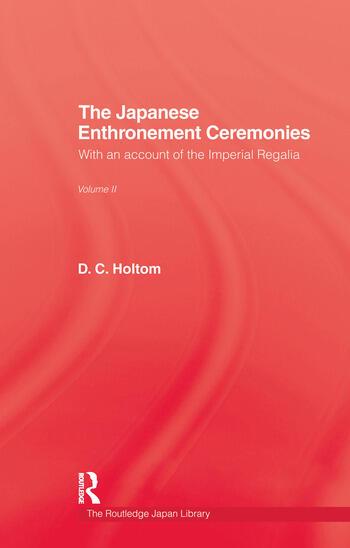 Japanese Enthronement Ceremonies book cover