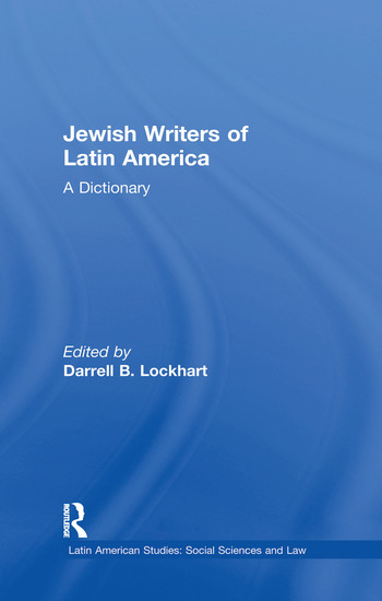 Jewish Writers of Latin America A Dictionary book cover