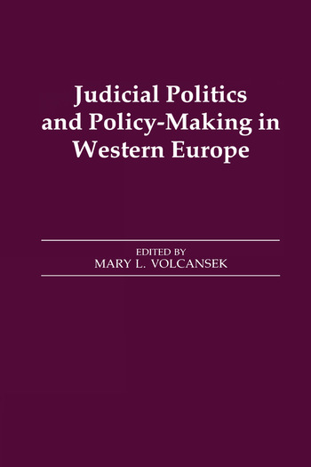 Judicial Politics and Policy-making in Western Europe book cover