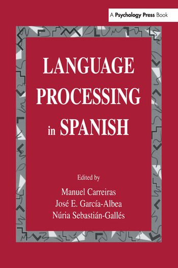 Language Processing in Spanish book cover