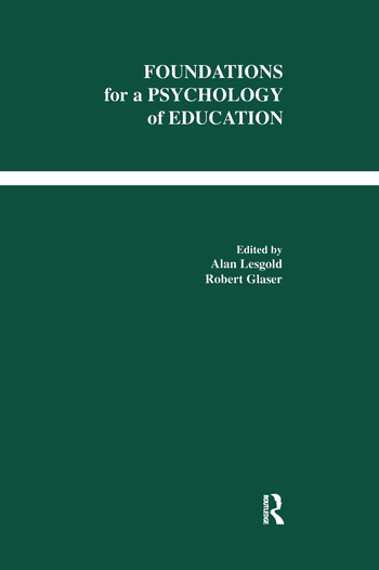 Foundations for A Psychology of Education book cover