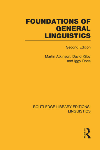 Foundations of General Linguistics book cover