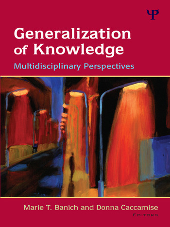Generalization of Knowledge Multidisciplinary Perspectives book cover