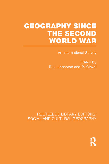 Geography Since the Second World War book cover