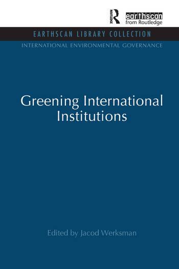 Greening International Institutions book cover