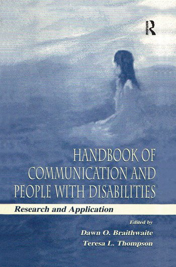 Handbook of Communication and People With Disabilities Research and Application book cover