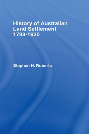 History of Australian Land Settlement book cover