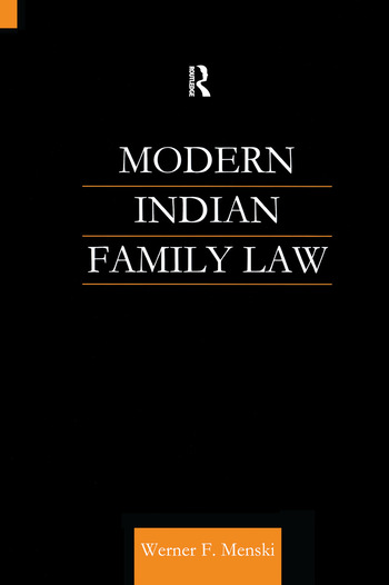 Modern Indian Family Law book cover