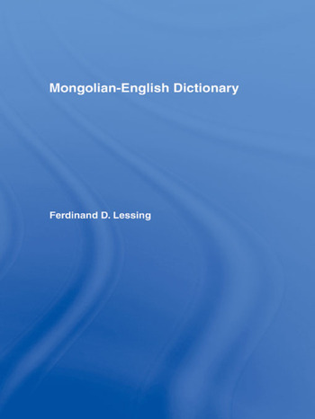 Mongolian-English Dictionary book cover