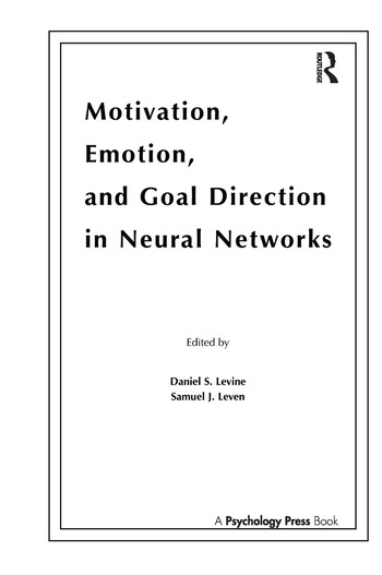 Motivation, Emotion, and Goal Direction in Neural Networks book cover