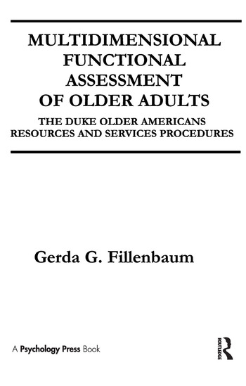 Multidimensional Functional Assessment of Older Adults The Duke Older Americans Resources and Services Procedures book cover
