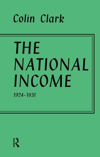 National Income 1924-1931 book cover