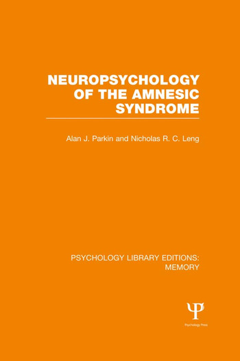 Neuropsychology of the Amnesic Syndrome (PLE: Memory) book cover