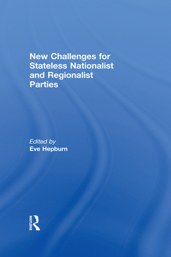 New Challenges for Stateless Nationalist and Regionalist Parties book cover