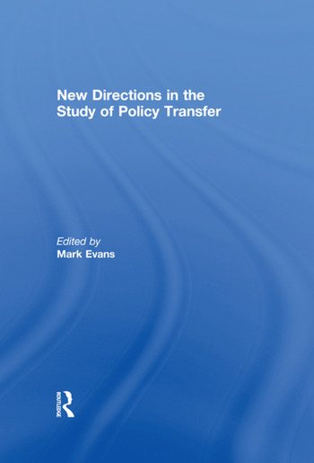 New Directions in the Study of Policy Transfer book cover