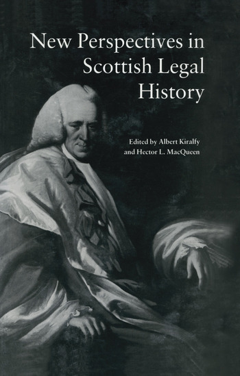 New Perspectives in Scottish Legal History New Per Scot Legal His book cover