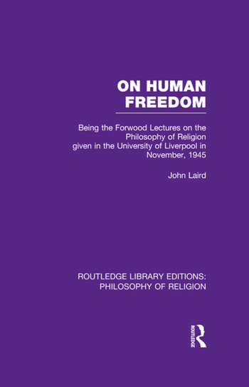 On Human Freedom Being the Forwood Lectures on the Philosophy of Religion given in the University of Liverpool in November, 1945 book cover