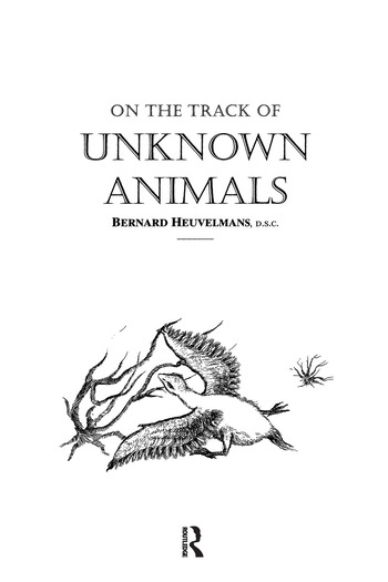 On The Track Of Unknown Animals book cover