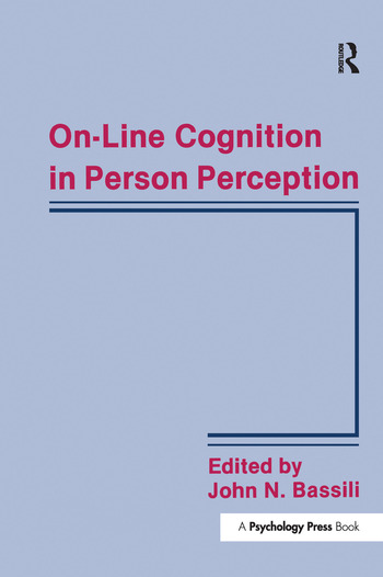On-line Cognition in Person Perception book cover
