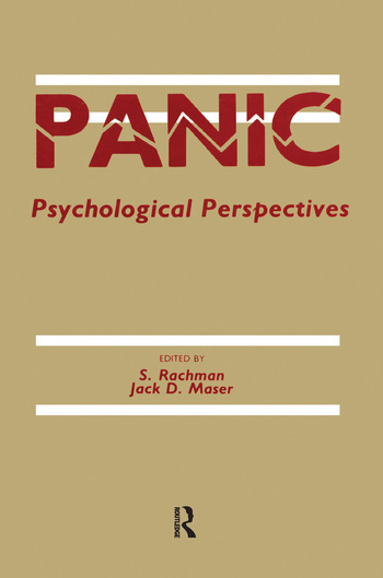 Panic Psychological Perspectives book cover