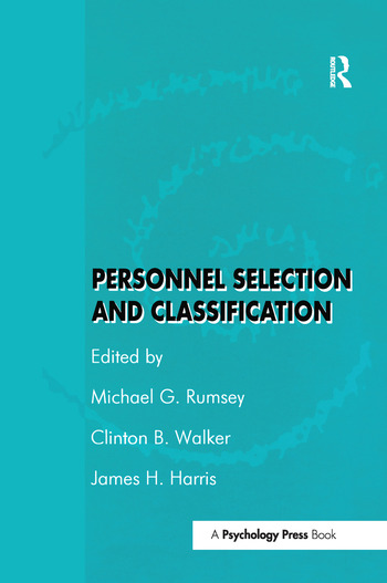 Personnel Selection and Classification book cover
