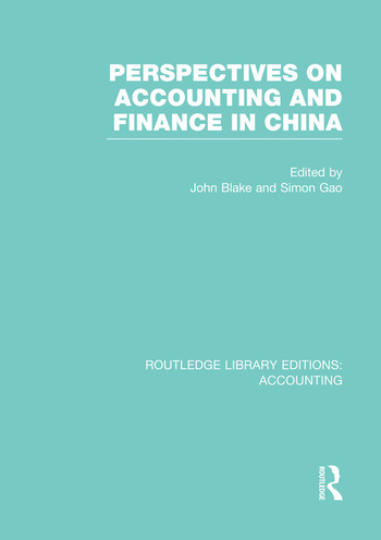 Perspectives on Accounting and Finance in China (RLE Accounting) book cover