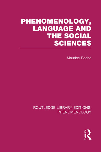 Phenomenology, Language and the Social Sciences book cover