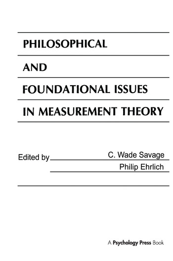Philosophical and Foundational Issues in Measurement Theory book cover