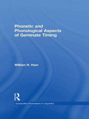 Phonetic and Phonological Aspects of Geminate Timing book cover