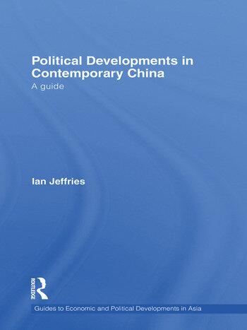 Political Developments in Contemporary China A Guide book cover