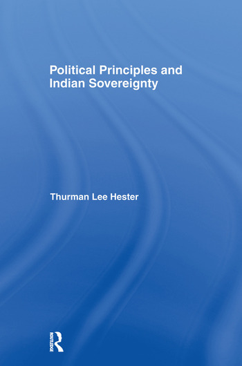 Political Principles and Indian Sovereignty book cover