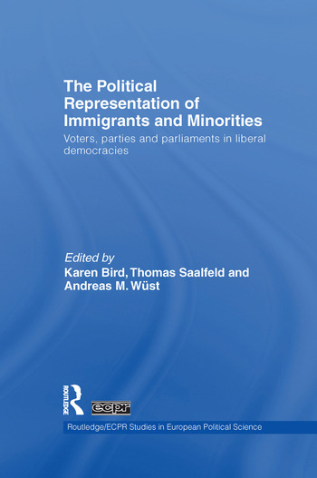 The Political Representation of Immigrants and Minorities Voters, Parties and Parliaments in Liberal Democracies book cover