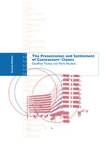 The Presentation and Settlement of Contractors' Claims - E2 book cover