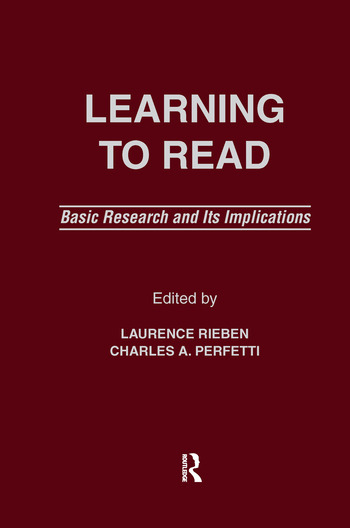 Learning To Read Basic Research and Its Implications book cover