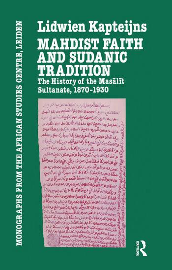 Mahdish Faith & Sudanic Traditio book cover