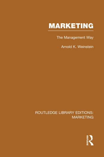 Marketing (RLE Marketing) The Management Way book cover