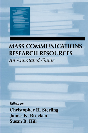 Mass Communications Research Resources An Annotated Guide book cover