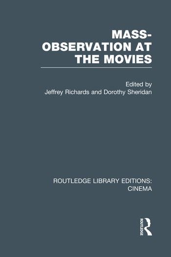 Mass-Observation at the Movies book cover