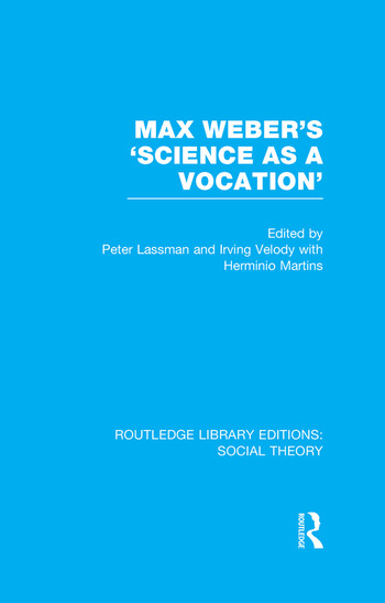 Max Weber's 'Science as a Vocation' book cover