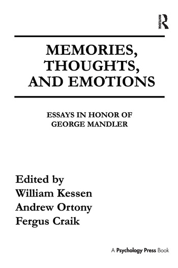 Science And Society Essay Memories Thoughts And Emotions Essays In Honor Of George Mandler Topics For An Essay Paper also Computer Science Essay Topics Memories Thoughts And Emotions Essays In Honor Of George Mandler  Cause And Effect Essay Papers