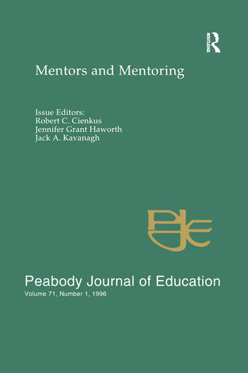 Mentors and Mentoring A Special Issue of the peabody Journal of Education book cover