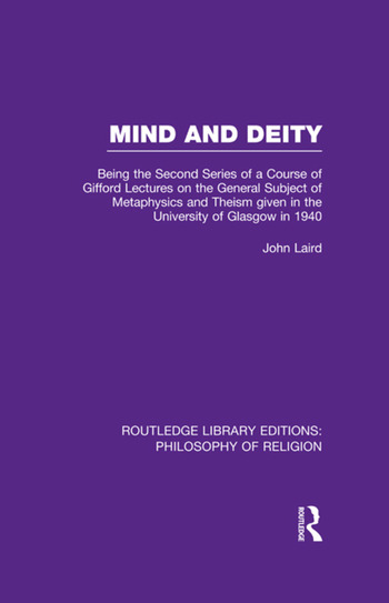 Mind and Deity Being the Second Series of a Course of Gifford Lectures on the General Subject of Metaphysics and Theism given in the University of Glasgow in 1940 book cover